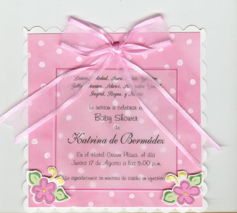 Invitaciones baby shower de nia