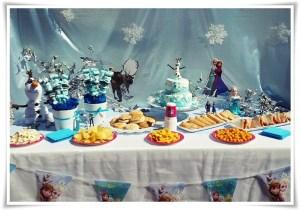 Decoración de fiestas infantiles temática Frozen