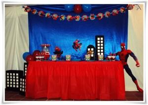 Decoración de fiestas infantiles temática Spiderman