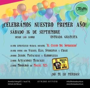 Banner Aniversario Fiestas a la Carta