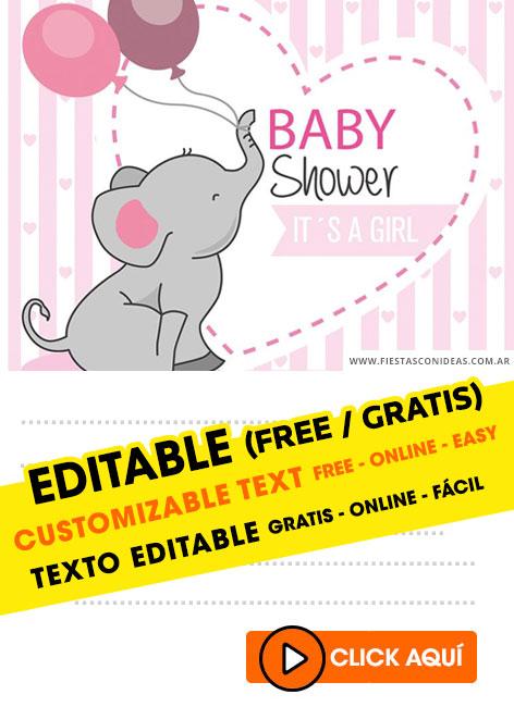 Invitaciones para Baby Shower, gratis. - Ideas y material