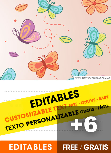 Butterfly Invitations Templates Free : butterfly, invitations, templates, Butterflies, Birthday, Invitation, Templates, Fiestas, Ideas