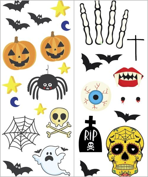 Tatuajes Una Idea Divertida Para Tus Fiestas Halloween Fiestas