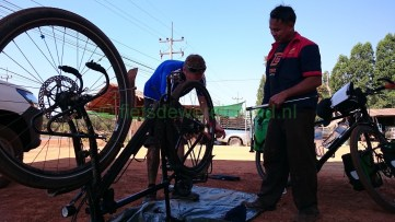 fietsen door Thailand