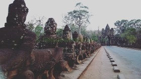 fietsen door Cambodja