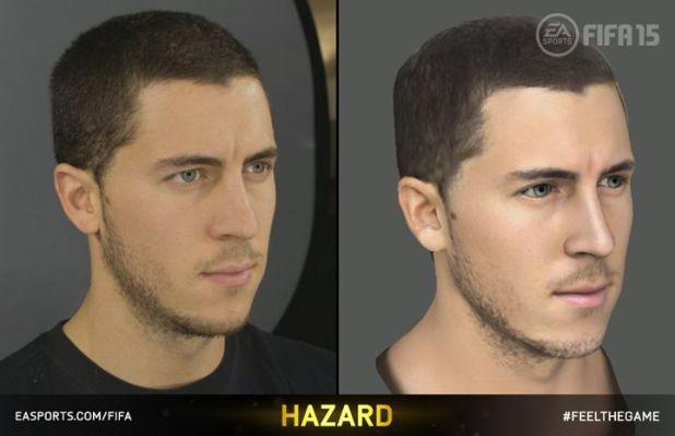 Eden Hazard FIFA 15 görüntüsü