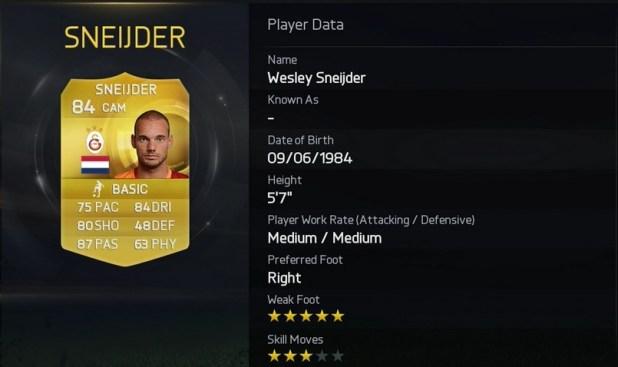 FIFA 15 - Wesley Sneijder - Galatasaray