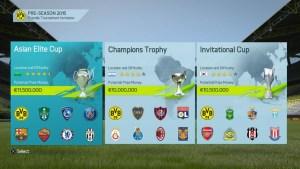 FIFA 16 Kariyer modu sezon öncesi turnuvalar