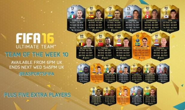 fifa16 haftanın takımı 10