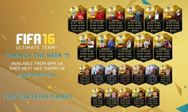fifa16 haftanın takımı 11