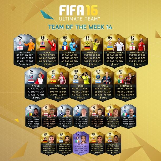 fifa16 haftanın takımı 14
