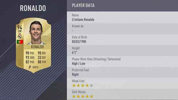 fifa18 ronaldo