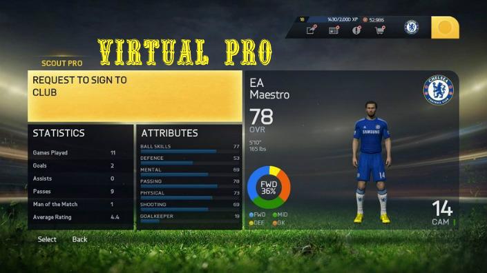 FIFA 15 Virtual Pro