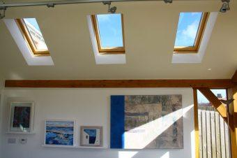 Roof lights in Oak frame extension