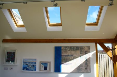 Roof lights in Oak frame extension