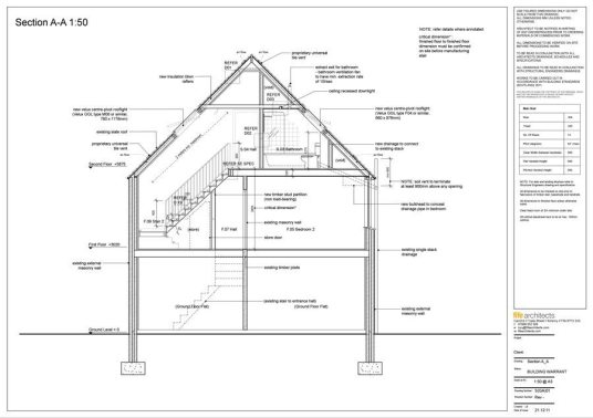 Full Building Warrant Application in St Monans - Fife Architects