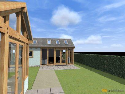 Oak Frame Extension - Fife Architects