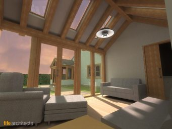 Oak Frame House Extension - Fife Architects