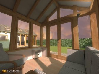 Oak Frame Extension Porche - Fife Architects