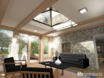 Oak frame extension - rendering