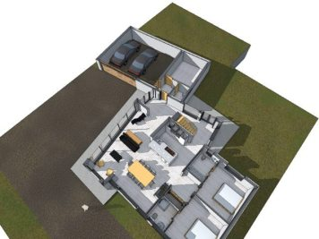 Layout of cottage extension
