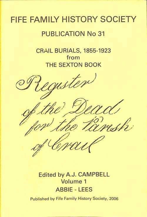 Publication 31, Crail Burials 1855-1923