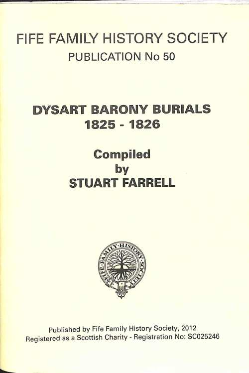 Publication 50, Dysart Barony Burials, 1825-1826