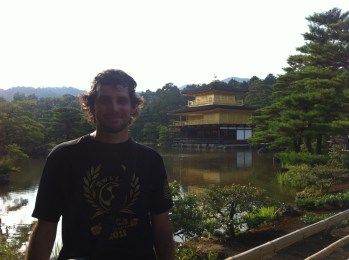 Dave at the Golden Pagoda, Kyoto, Japan, 2012