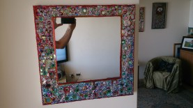 Mirror painting by Cylvi Manthyng