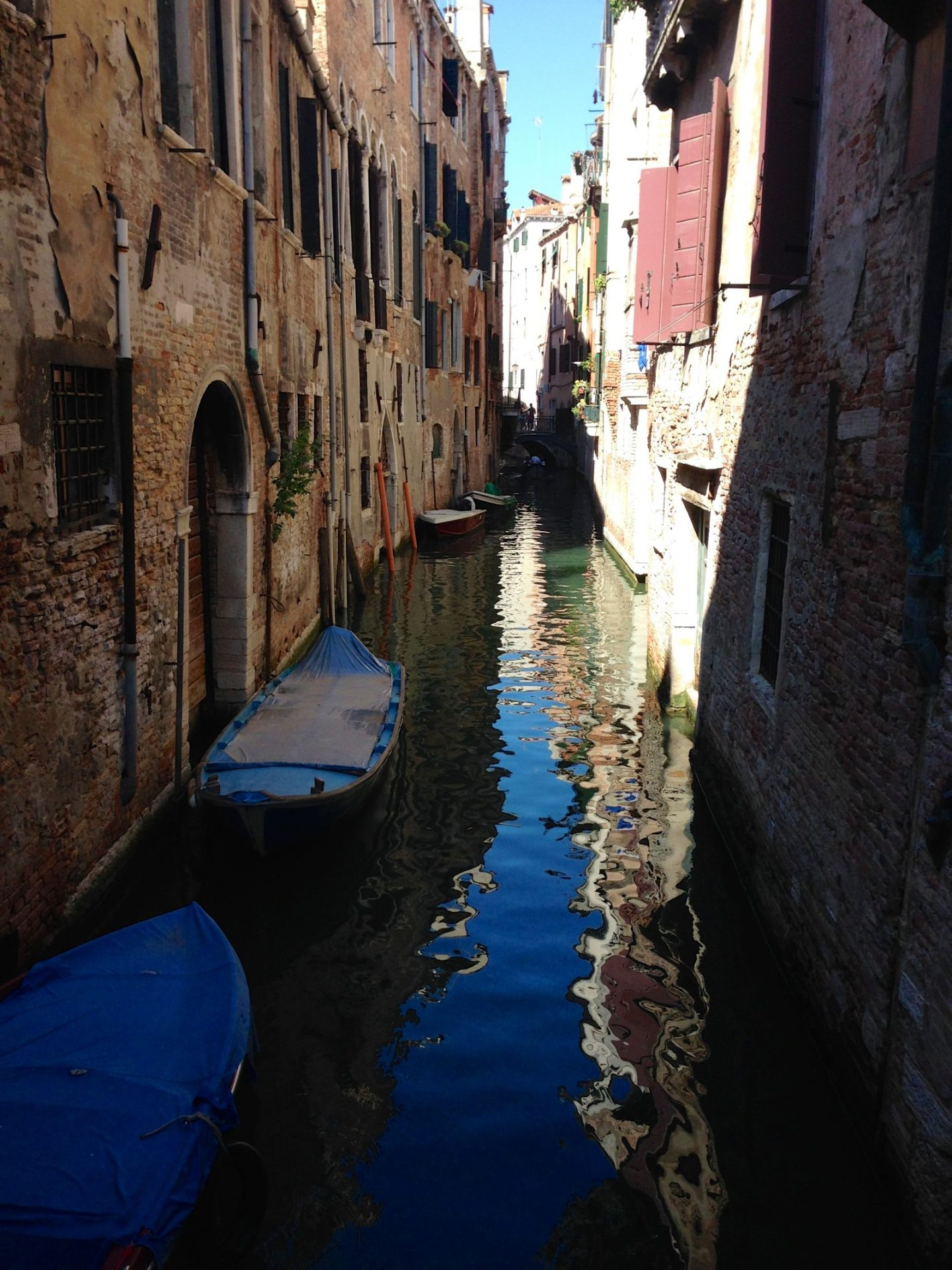Taking a boat ride in Venice, Italy.