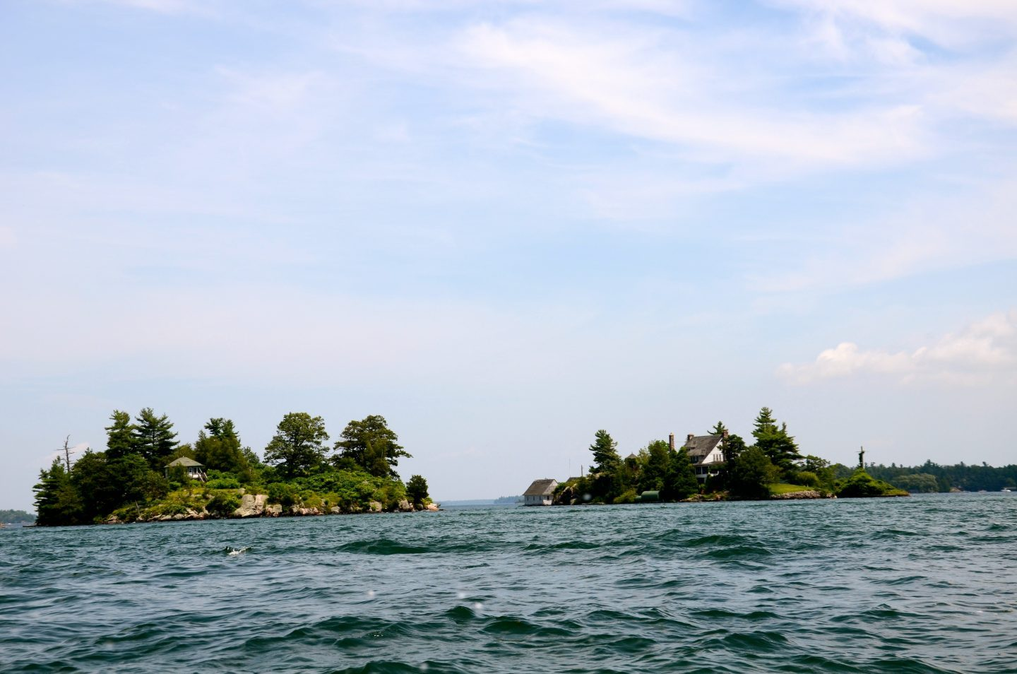 cursing around in the Thousand Islands New York.