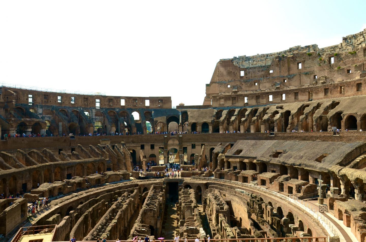 Exploring the Colosseum in Rome.
