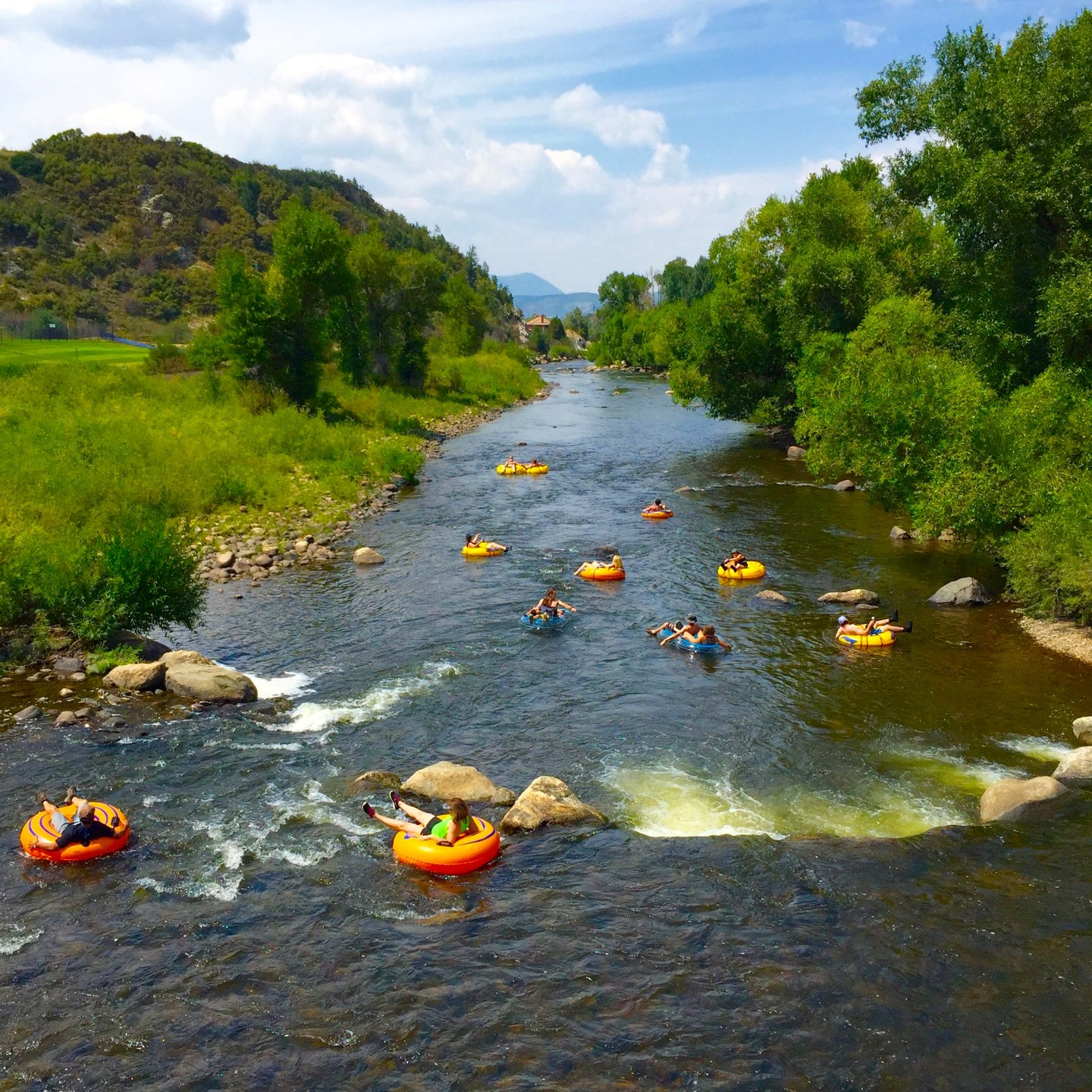 Tubing is one of the fun things to do in Steamboat Springs in summer
