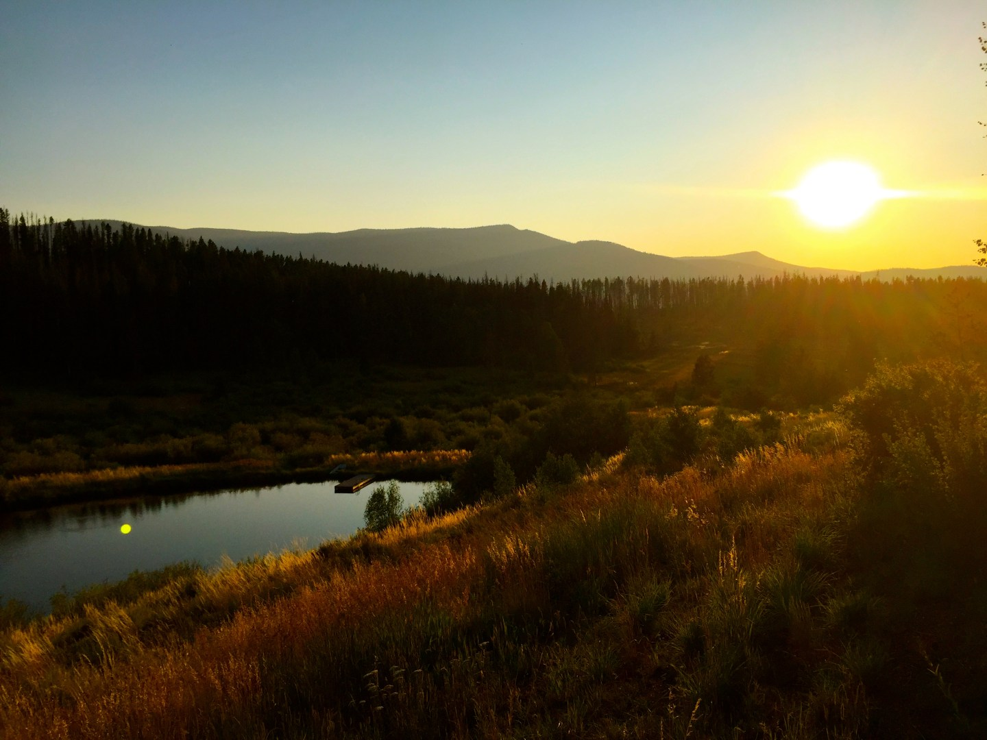 Sunset in Steamboat Springs, CO.