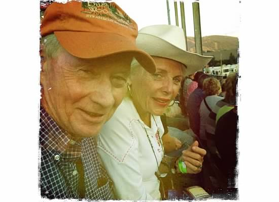Grandparents at the rodeo in Steamboat Springs in the summer