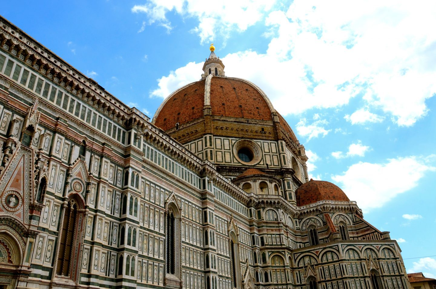 Looking up at the dome of the duomo in Florence.
