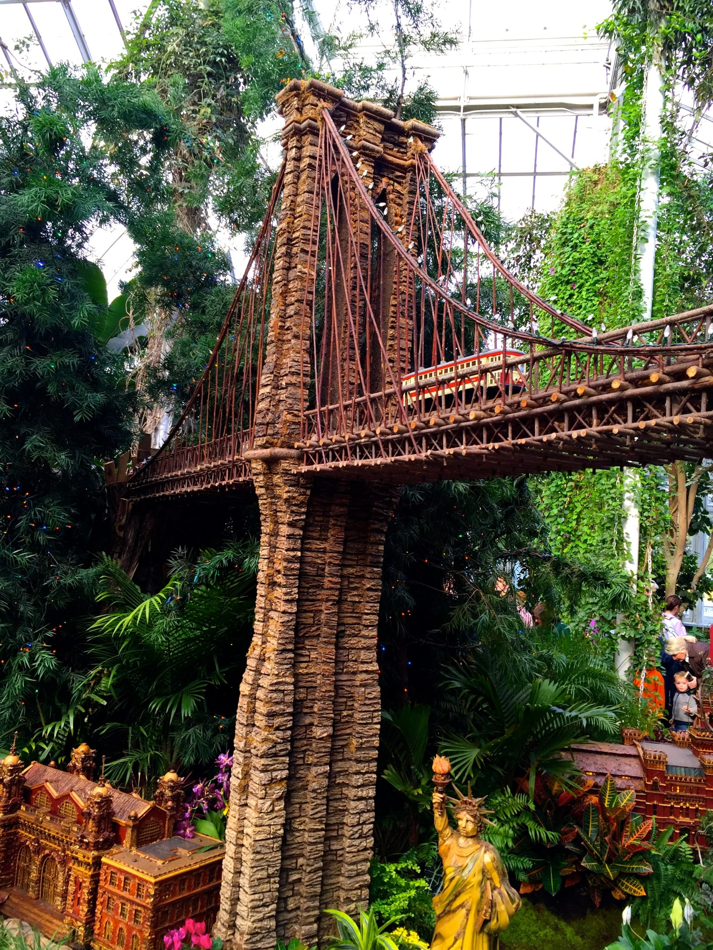 Brooklyn Bridge at the Holiday Train Show at the New York Botanical Garden