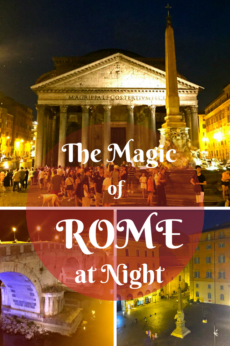 Exploring the magical city of Rome at night.