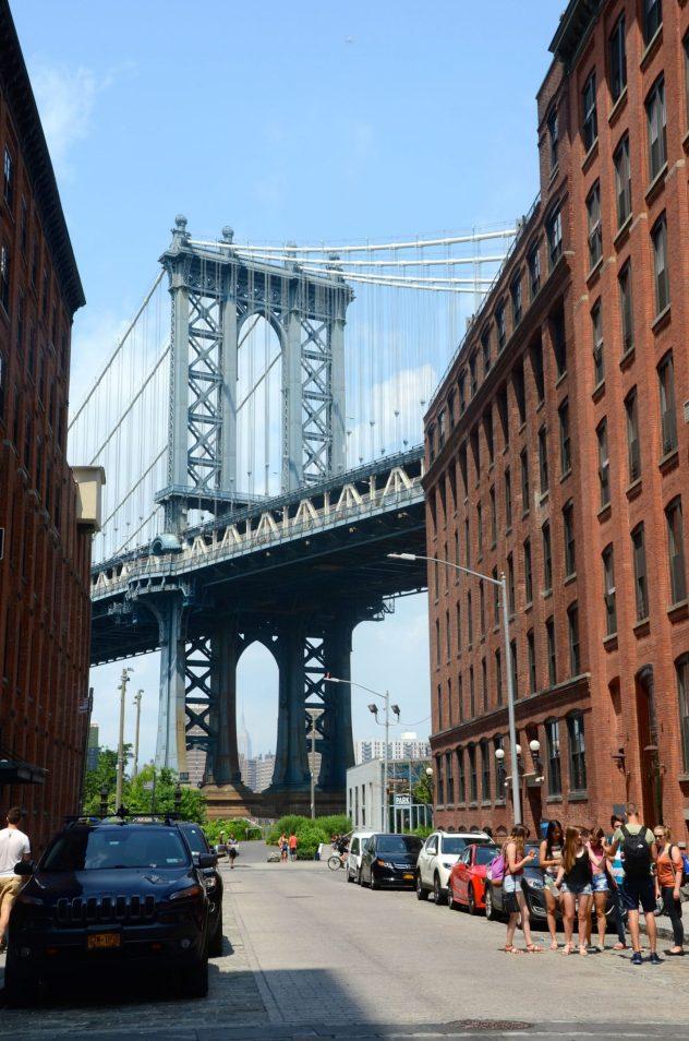 View of Manhattan Bridge in DUMBO.