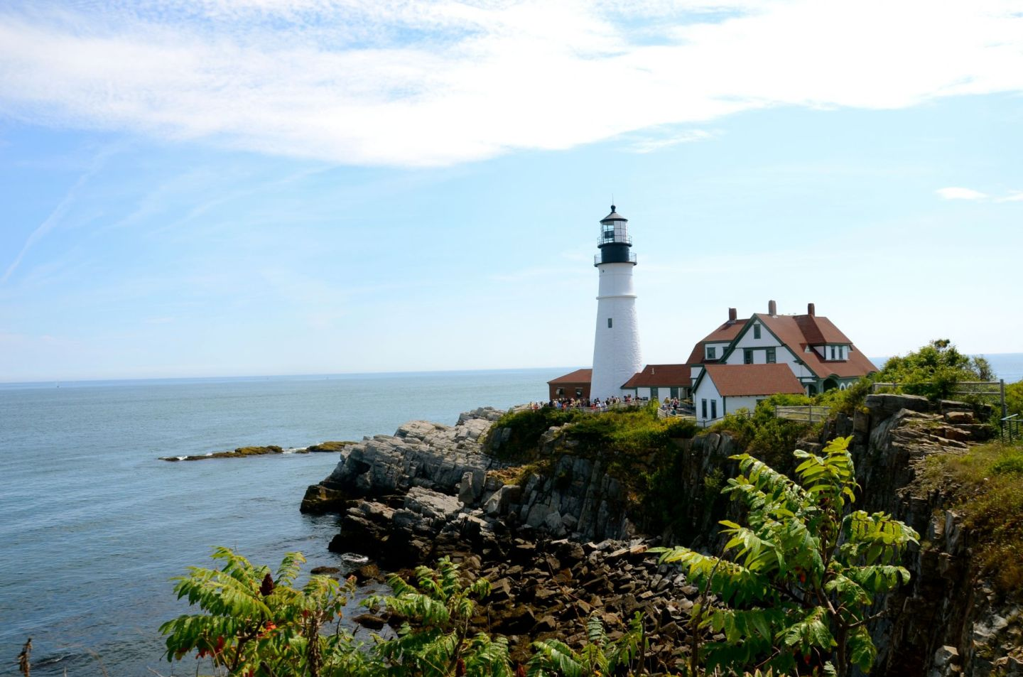 Fun things to do in Portland, Maine includes a visit to the Portland Headlight.