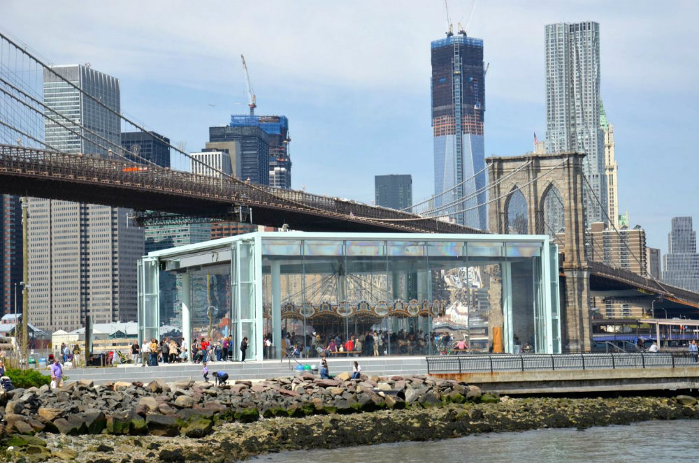 Jane's Carousel in Brooklyn Bridge Park.
