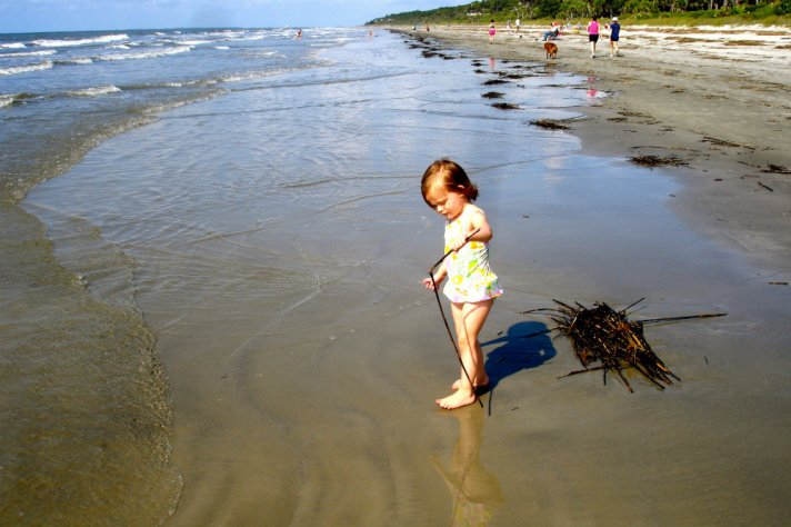 Hilton head island has 12 miles of pristine, white sand beaches.