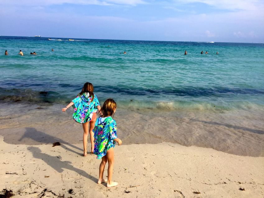 Kids Playing at the beach in South Beach Miami