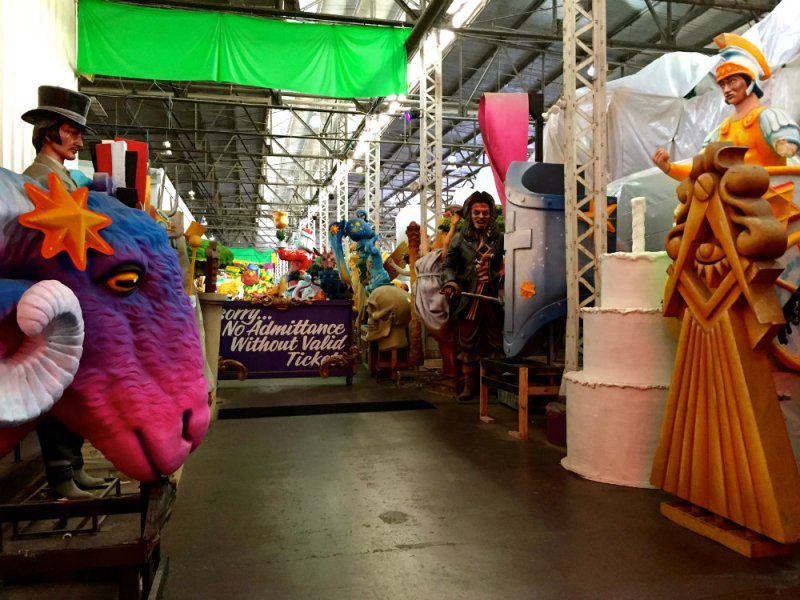Taking the tour of Mardi Gras World in New Orleans