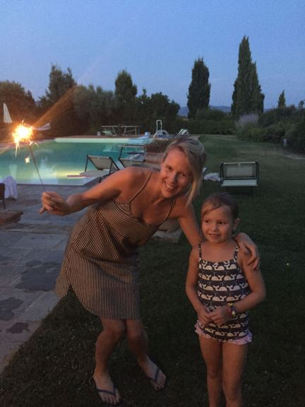 Night time at our villa in Tuscany