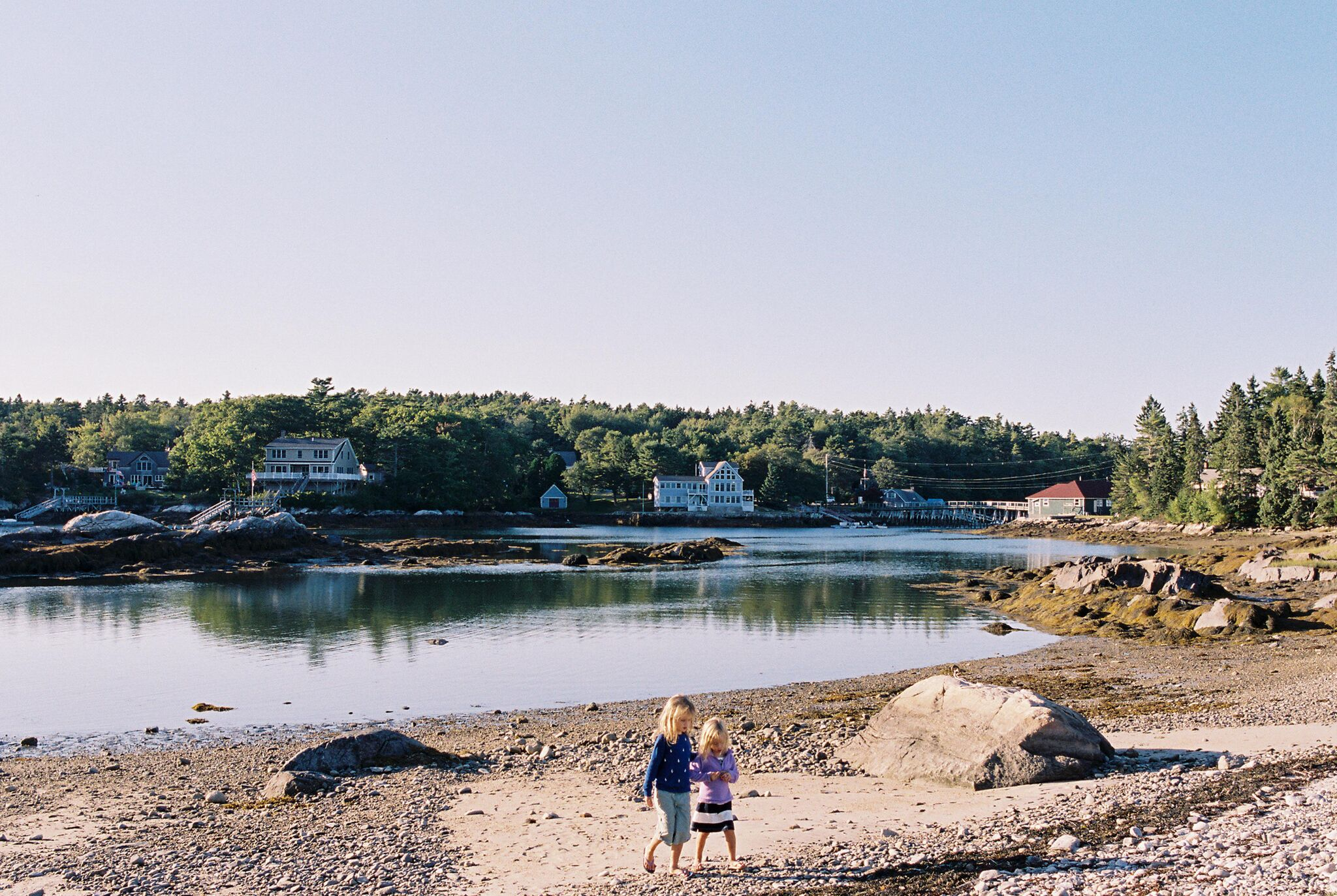 Beach walk in Maine.