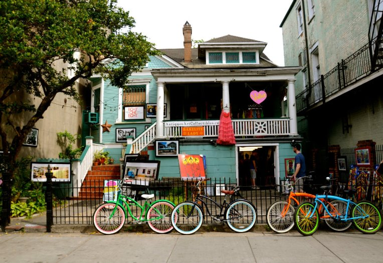 Bicycle shop in the French Quarter in New Orleans
