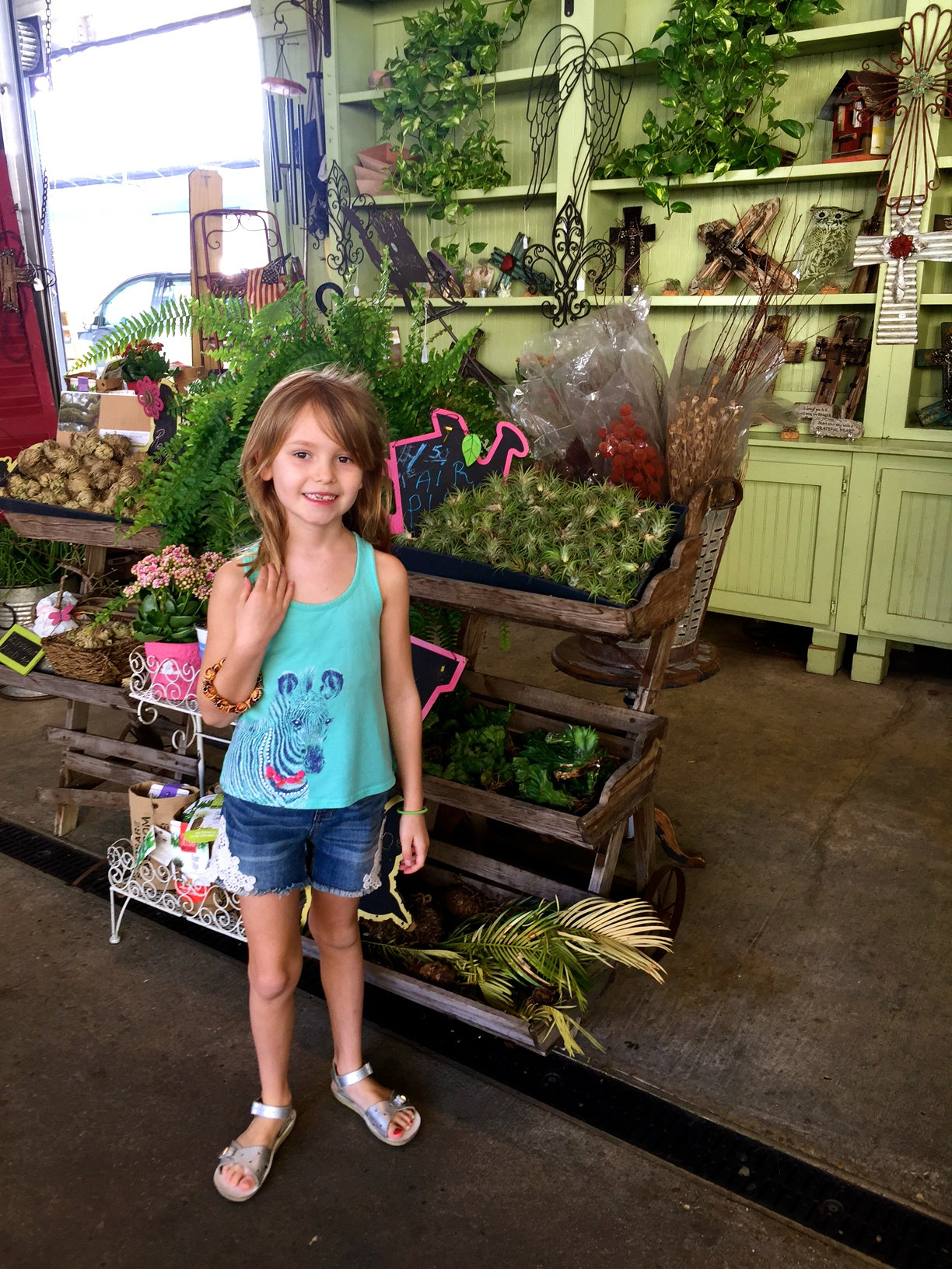 Shopping in the French Market in New Orleans.