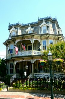 Checking out all the victorian houses in Cape May New Jersey.