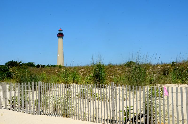 The Cape May Lighthouse is a popular attraction in Cape May, New Jersey.